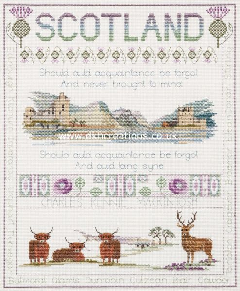 Scotland Cross Stitch Kit